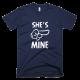 Тениска с щампа She's mine