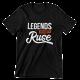 Тениска с щампа Legends are born in (град по избор)