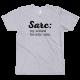Тениска с шампа Sarc: my second favorite -asm.