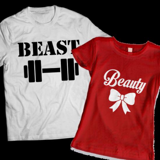 Тениски за двойки - Beauty & Beast