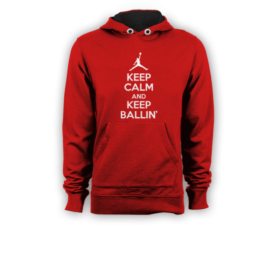 Суичър с щампа  KEEP CALM AND KEEP BALLIN
