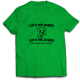 Mъжкa тениска с щампа LET'S EAT PUPPY