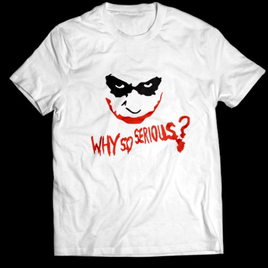Mъжкa тениска с щампа WHY SO SERIOUS