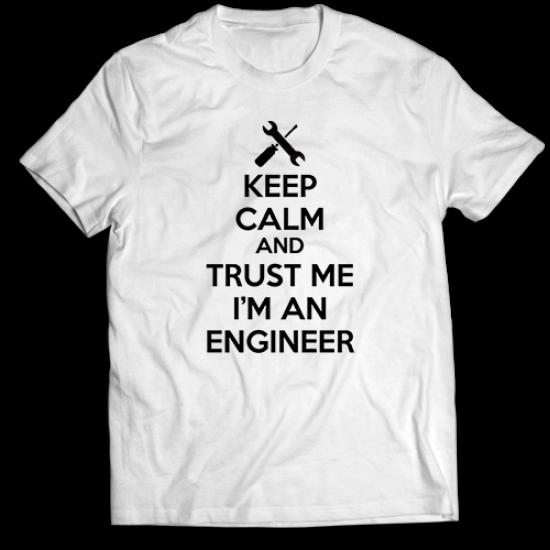 Тениска с щампа ENGINEER