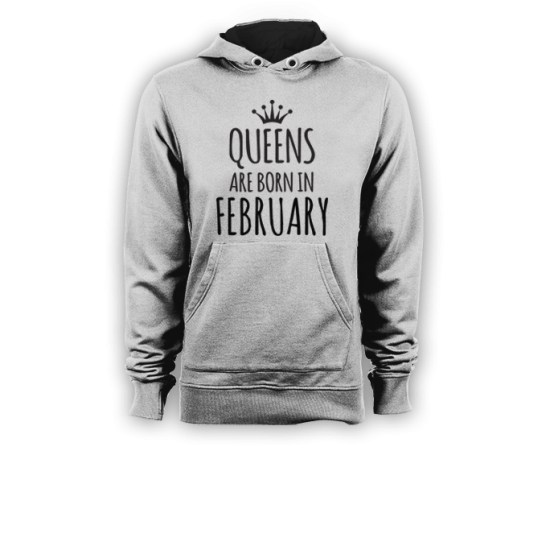 Суичър с щампа QUEENS ARE BORN IN FEBRUARY
