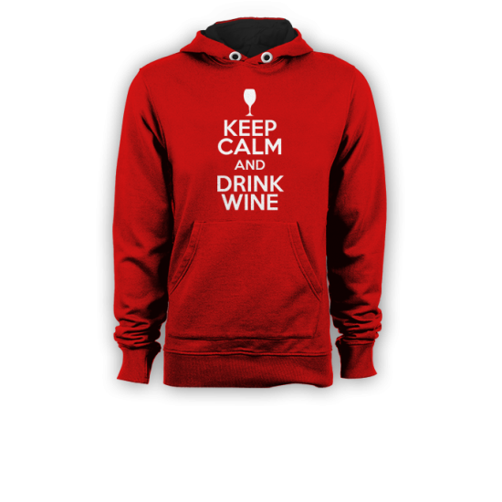 Суичър с щампа KEEP CALM AND DRINK WINE