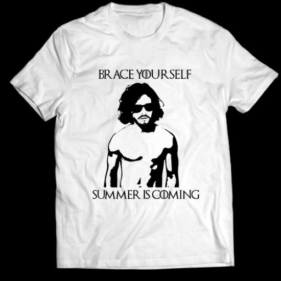 Тениска с щампа BRACE YOURSELF SUMMER IS COMING