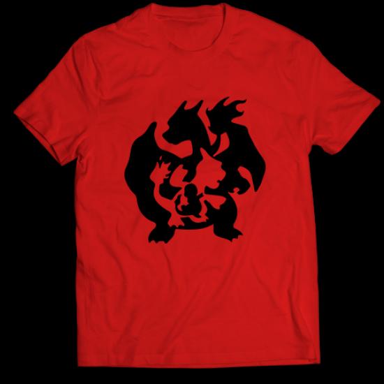 Тениска с щампа CHARMANDER EVOLUTION