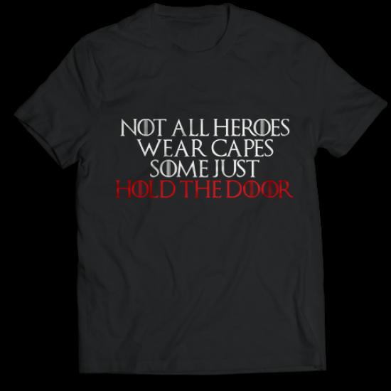 Тениска с щампа  NOT ALL HEROES WEAR CAPES