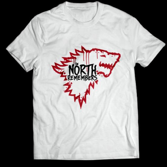 Mъжкa тениска с щампа SEAT NORTH REMEMBERS STARK