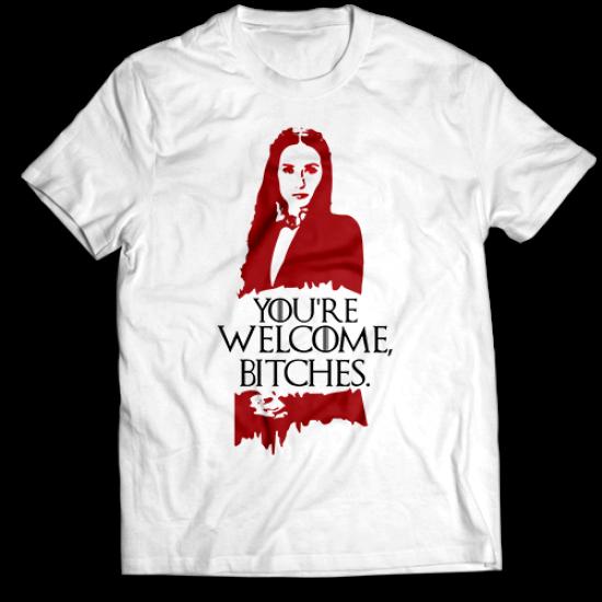 Mъжкa тениска с щампа YOU'RE WELCOME, BITCHES