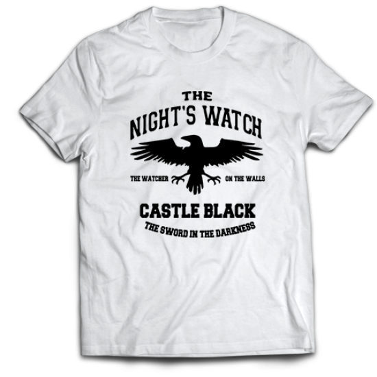 Тениска с щампа CASTLE BLACK