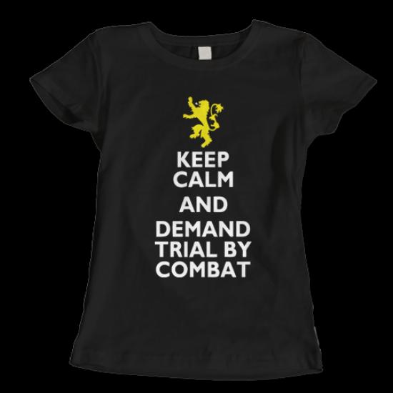 Тениска с щампа  KEEP CALM AND DEMAND BATTLE