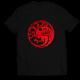 Тениска с щампа FIRE AND BLOOD