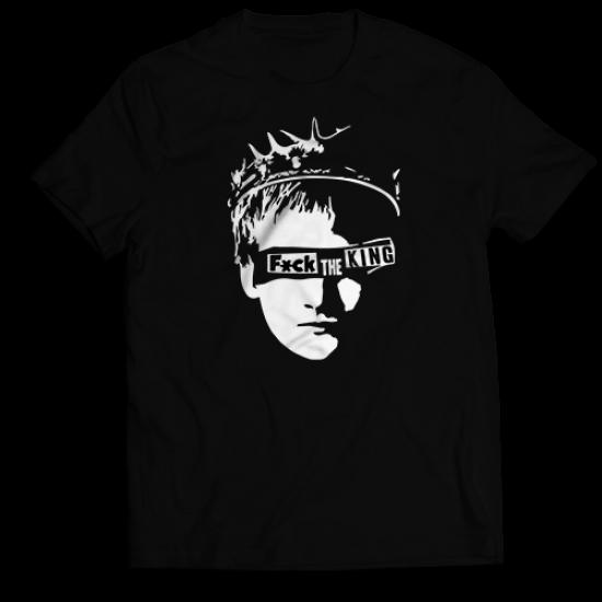 Тениска с щампа F*CK THE KING