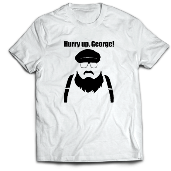 Mъжкa тениска с щампа HURRY UP GEORGE