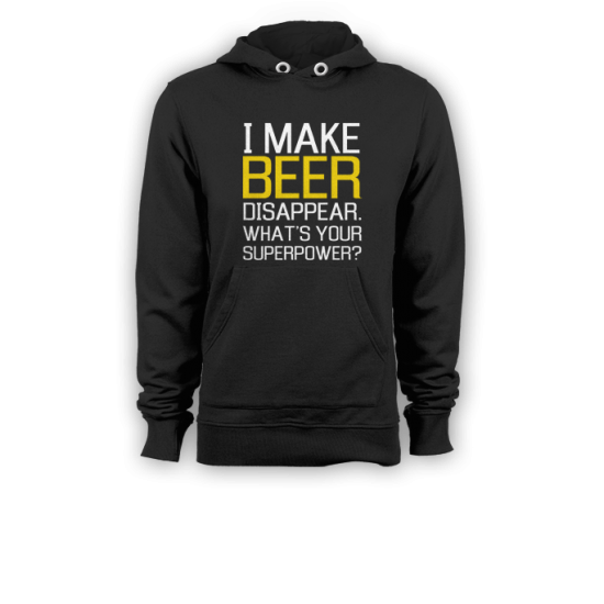 Суичър с щампа  I MAKE BEER DISAPPEAR