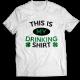 Тениска с щампа THIS IS MY DRINKING