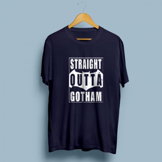 Тениска с щампа STRAIGHT OUTTA GOTHAM