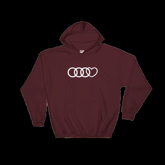 Суичър с щампа Audi Heart
