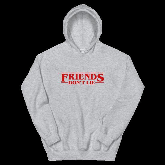 Суичър с щампа Friends don't Lie   Stranger Things