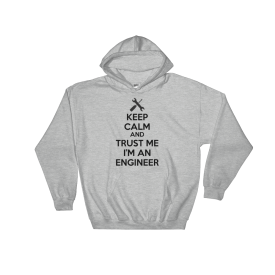 Суичър с щампа Keep calm and Trust me I'm an Engineer