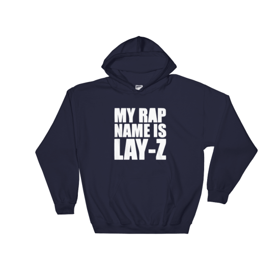 Суичър с щампа My rap name is Lay-Z