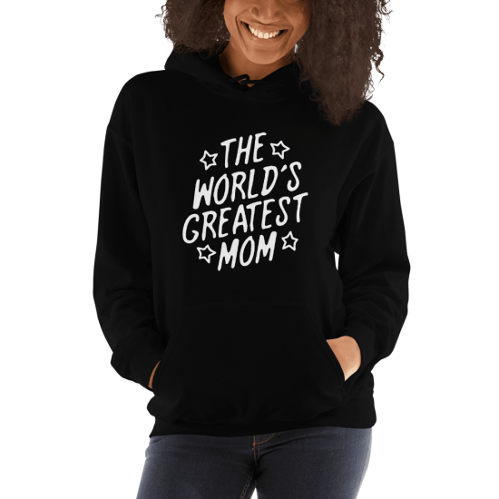 Суичър с щампа The world's greatest Mom