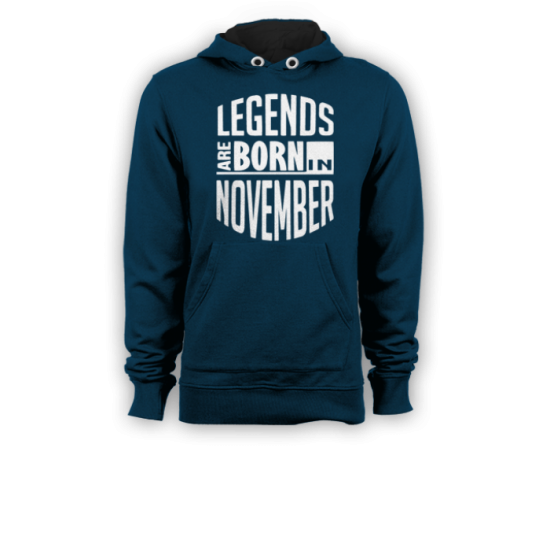 Суичър с щампа Legends November