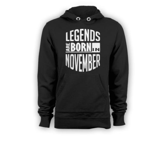Суичър с щампа Legends November