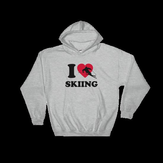 Суичър с щампа I love Skiing