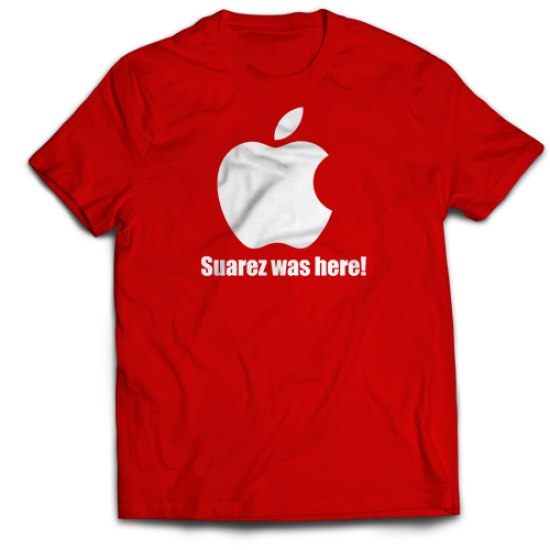 Тениска с щампа  SUAREZ WAS HERE