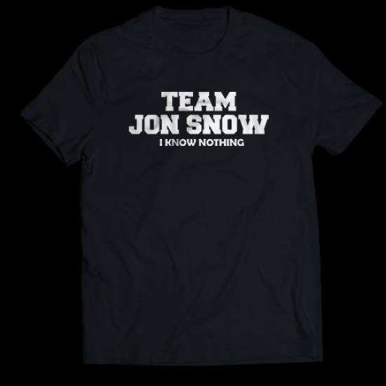 Мъжкa тениска с щампа TEAM JON SNOW