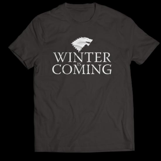Мъжкa тениска с щампа  WINTER IS COMING