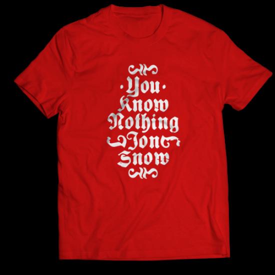 Мъжкa тениска с щампа YOU KNOW NOTHING JON SNOW