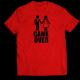 Тениска с щампа GAME OVER