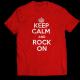 Тениска с щампа KEEP CALM AND ROCK ON