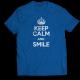Тениска с щампа KEEP CALM AND SMILE