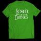 Тениска с щампа LORD OF THE DRINKS
