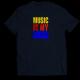 Тениска с щампа MUSIC IS MY DRUG