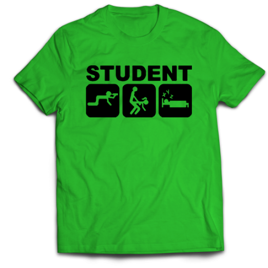 Тениска с щампа STUDENT