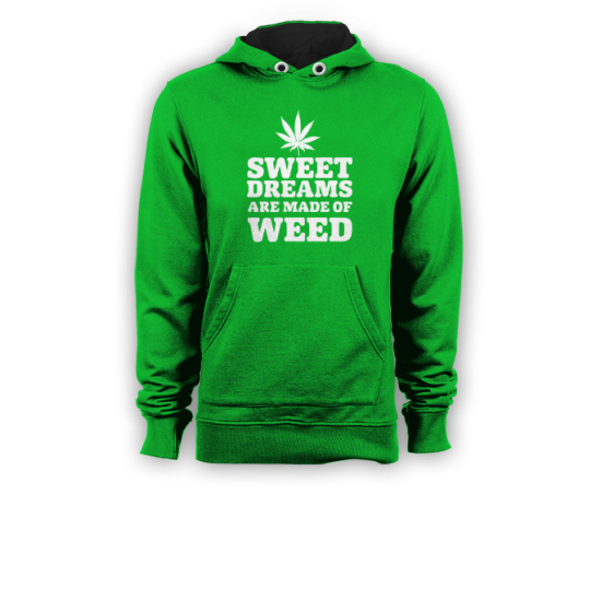 Суичър с щампа SWEET DREAMS ARE MADE OF WEED