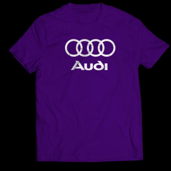 Тениска с щампа Audi