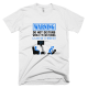 Тениска с щампа Warning Stark