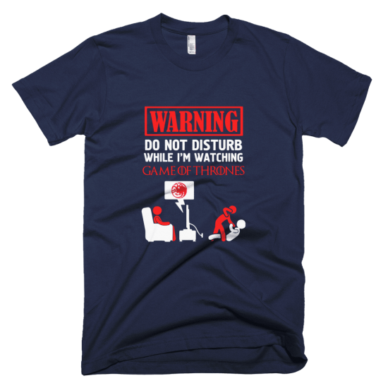 Тениска с щампа Warning Targaryen