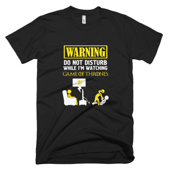 Тениска с щампа Warning Lannister