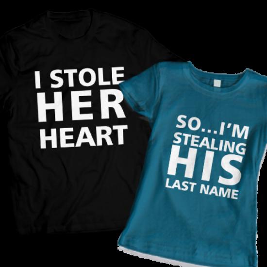 Тениски за двойки - I stole her Heart