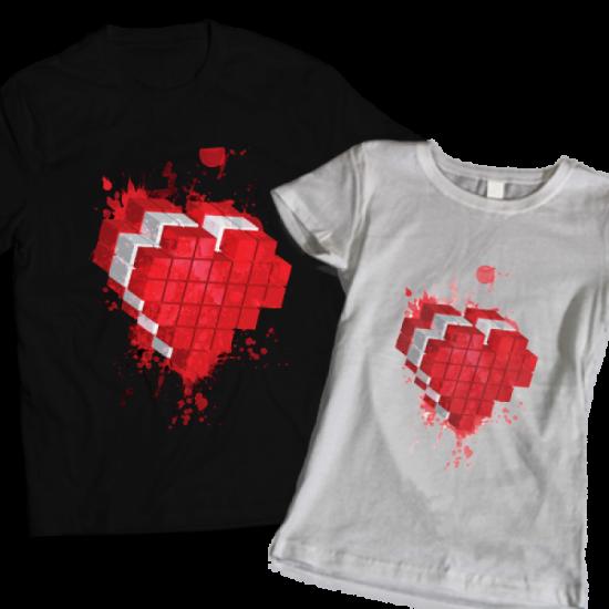 Тениски за тях - Pixel Love
