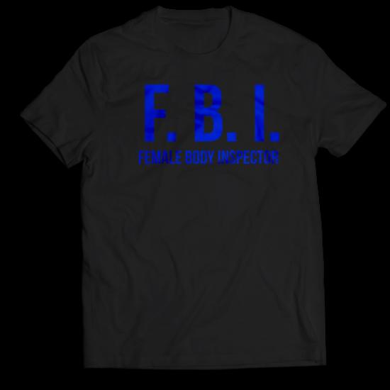 Тениска с щампа FBI