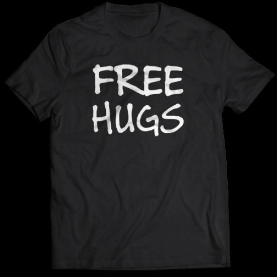 Тениска с щампа FREE HUGS